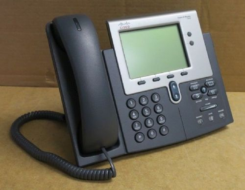 Cisco CP-7942G 7942G Unified IP VoIP Corded Phone + Handset & Stand 68-3430-01